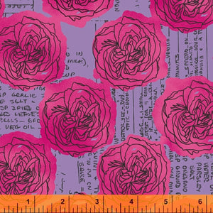 Windham Fabrics - Norma Rose - Roses & Recipes - Pink