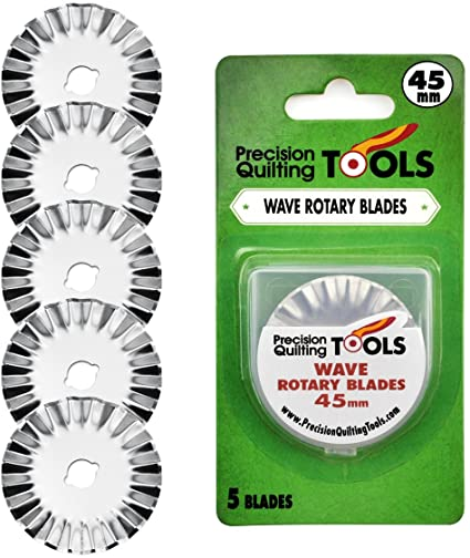 Precision Quilting Tools 45mm wave rotary blades