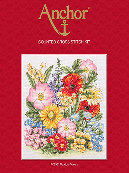 Load image into Gallery viewer, Anchor Counted Cross Stitch Kit - PCE961 Meadow Flowers