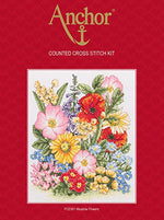 Anchor Counted Cross Stitch Kit - PCE961 Meadow Flowers