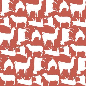 Poppie Cotton Barnyard- Red