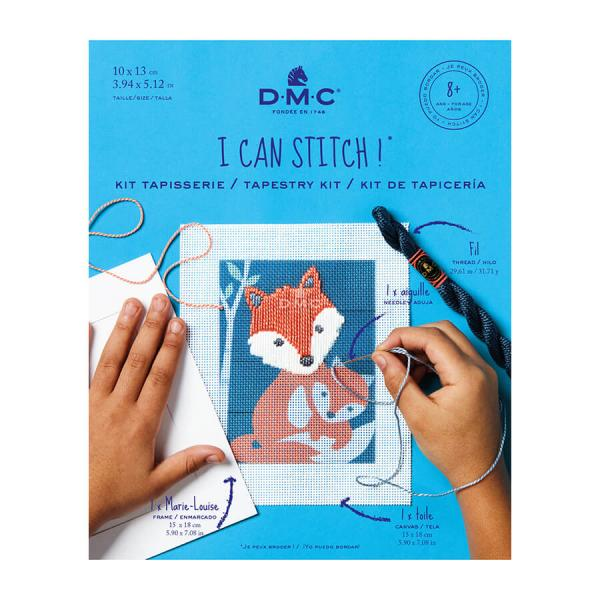 D.M.C Tapestry Kit - I Can Stitch! - Gaspar the Fox