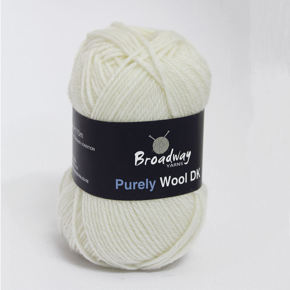Purely Wool DK by Broadway Yarns - White 901