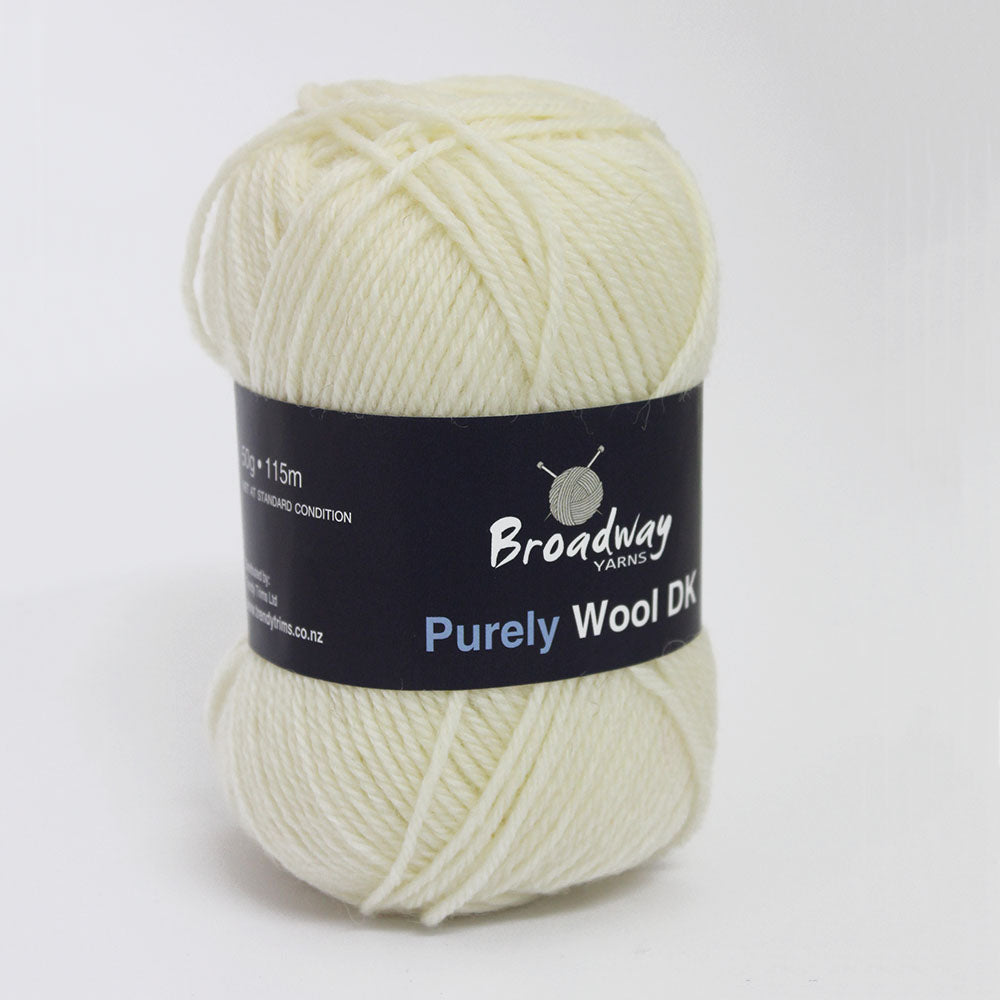 Purely Wool DK by Broadway Yarns - Cream 902