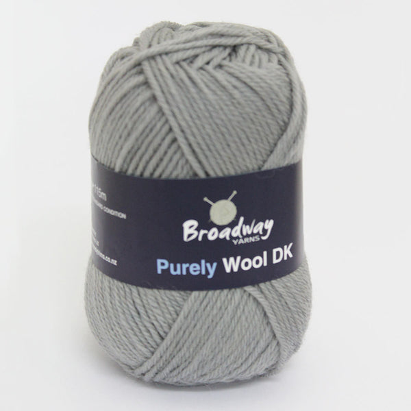 Purely Wool DK by Broadway Yarns - Grey
