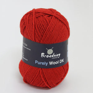 Purely Wool DK by Broadway Yarns - Red 9119