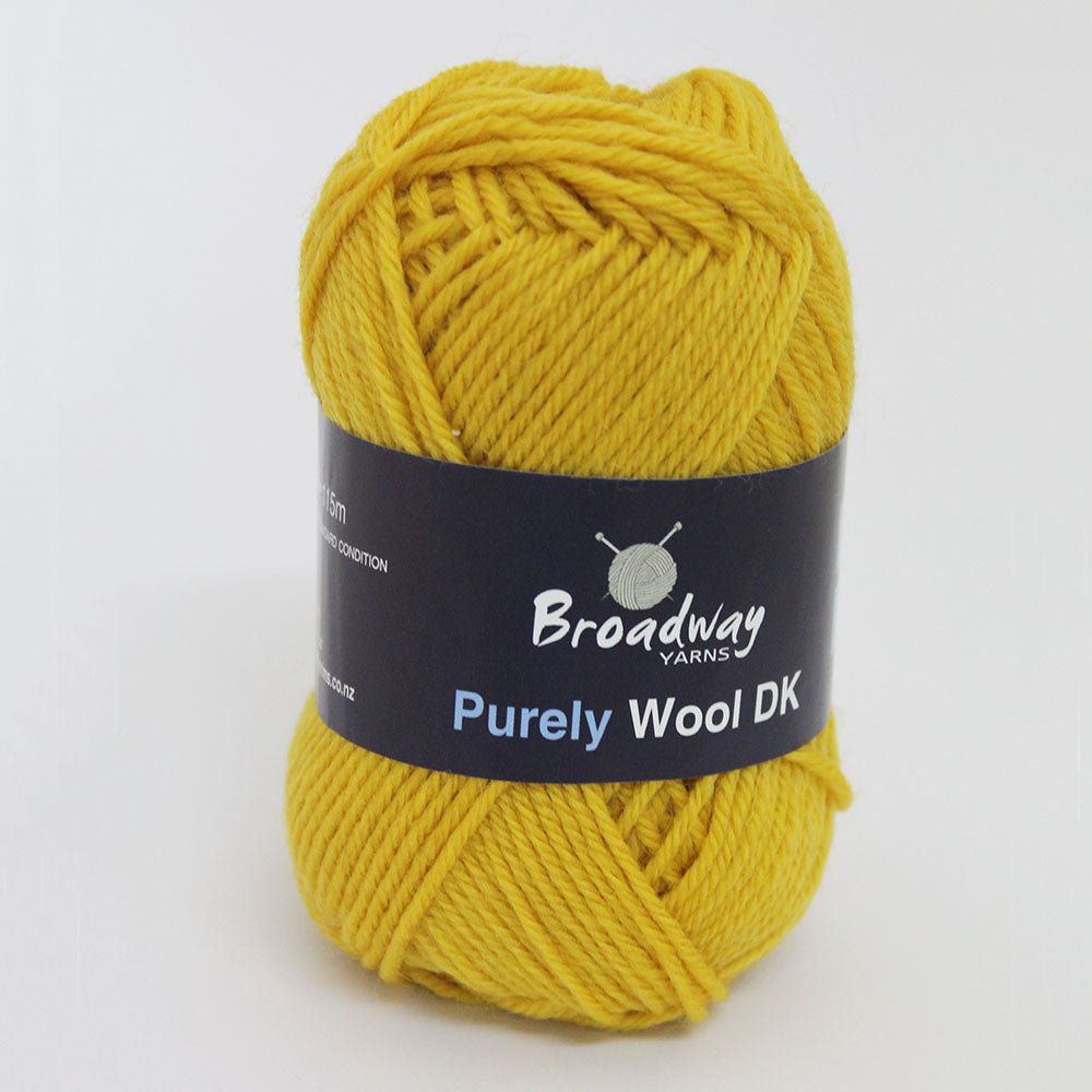 Load image into Gallery viewer, Purely Wool DK by Broadway Yarns - Mustard 9141