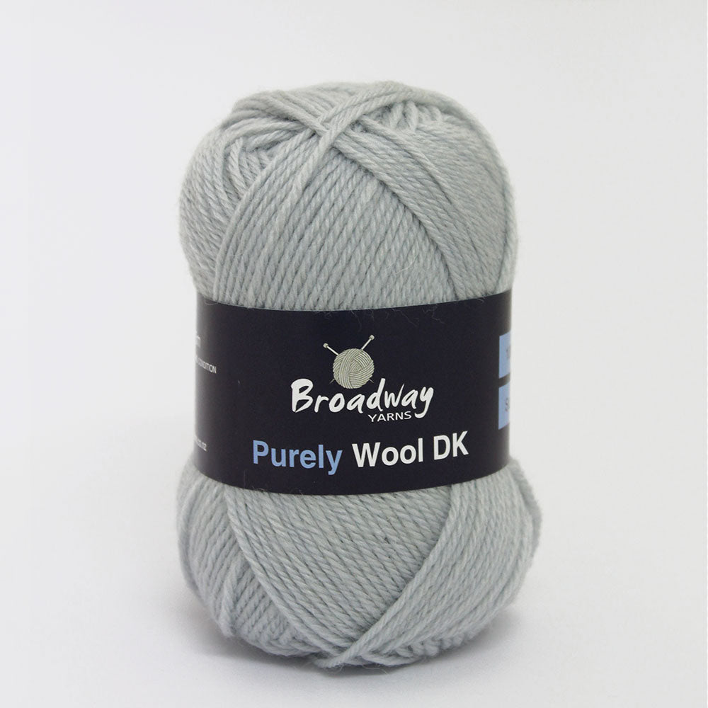 Purely Wool DK by Broadway Yarns -Silver 919