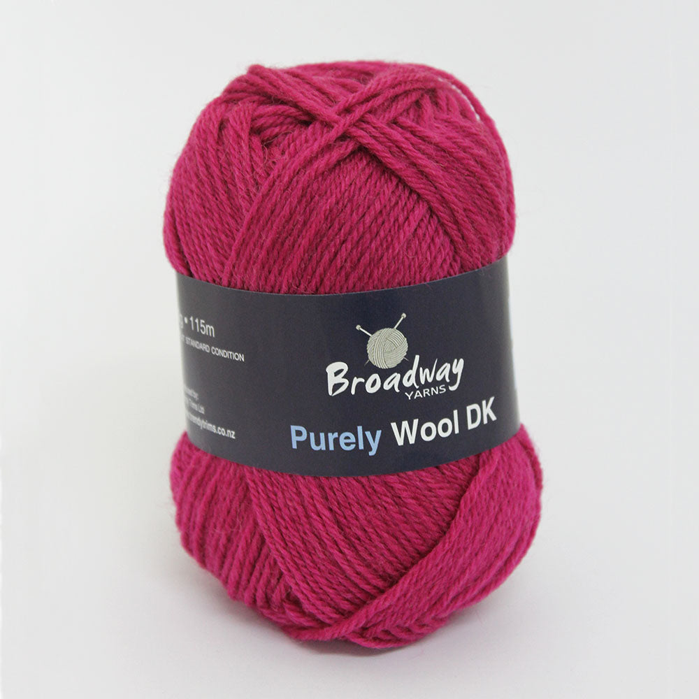 Purely Wool DK by Broadway Yarns - Fuschia - 934