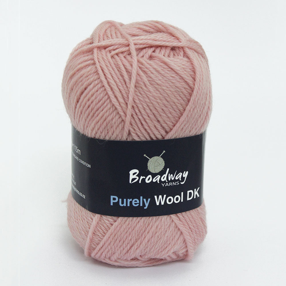 Purely Wool DK by Broadway Yarns - Pink 966