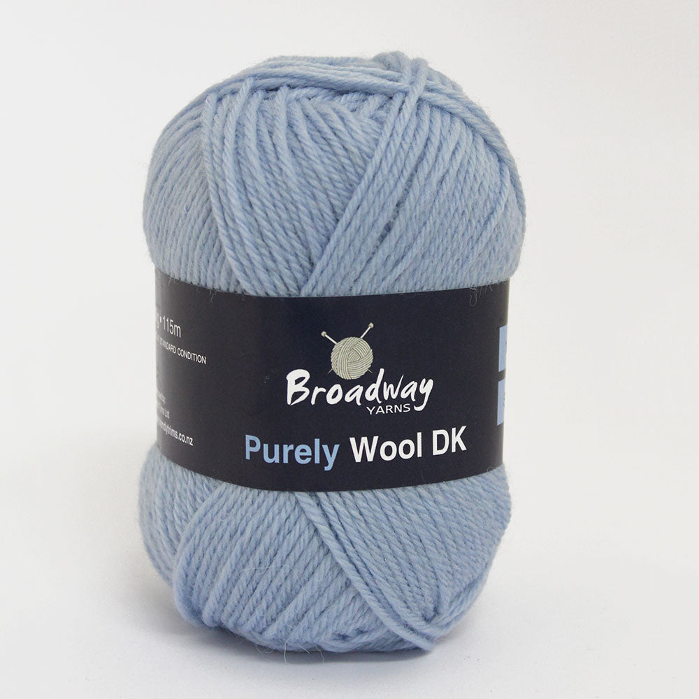 Purely Wool DK by Broadway Yarns - Pale Blue 980