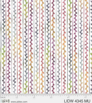 P&B Textiles - Little Darlings Woodland - vertical multi coloured stripe