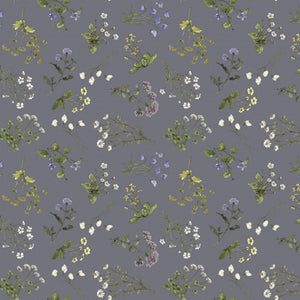 Meadow Ditsy in Graphite - Midsummer by Hackney & Co
