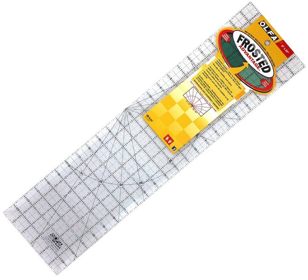 "Olfa 6"" x 24"" Frosted Advantage Ruler"