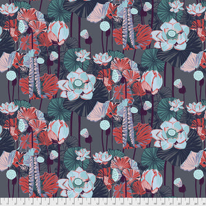 Free Spirit Fabrics - One mile Radiant - Lotus - Midnight
