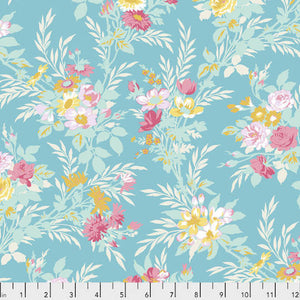 Darling Meadow - Little Bouquet Teal by Tanya Whelan