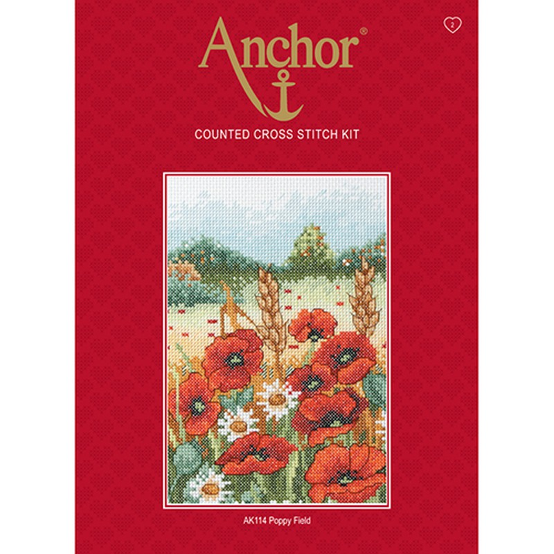 Anchor Counted Cross Stitch Kit - AK114 Poppy Field
