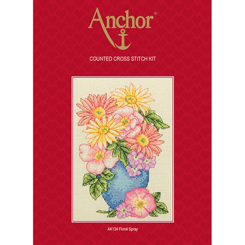 Anchor Counted Cross Stitch Kit - AK134 Floral Spray