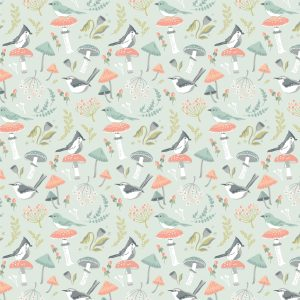 Poppie Cotton - Woodland Songbirds - Mint