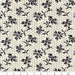 Wilmington Blackwood Cottage Cream Dotted Floral