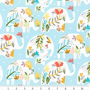 "Windham Fabrics ""Ellie"" by Whistler Studios - Light Blue"
