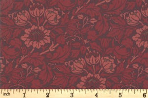Best of Morris Fall - Flowering Scroll - Crimson
