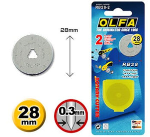 Load image into Gallery viewer, Olfa Rotary Cutter 28mm blade