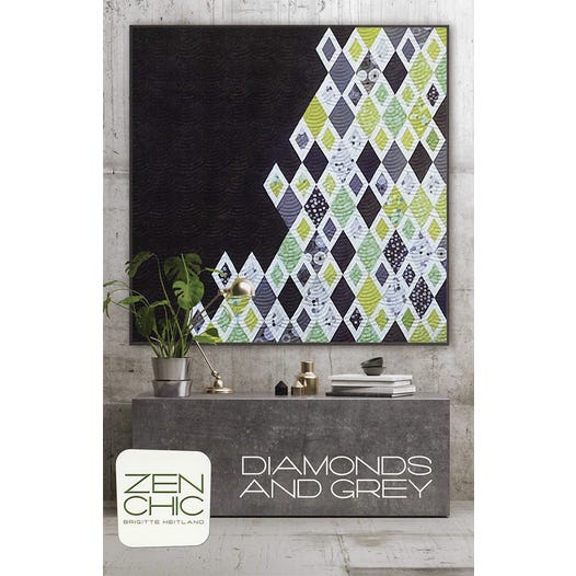 Load image into Gallery viewer, Zen Chic - Diamonds and Grey