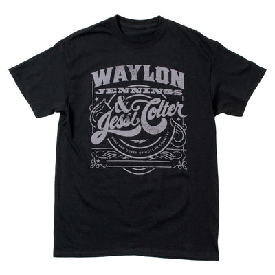 Waylon Jennings & Jessi Colter Mens Tee Shirt - Men's Tee Shirt - Waylon Jennings Merch Co.