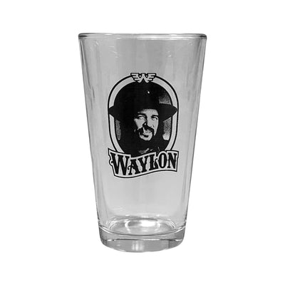 Waylon Jennings Portrait Pint Glass