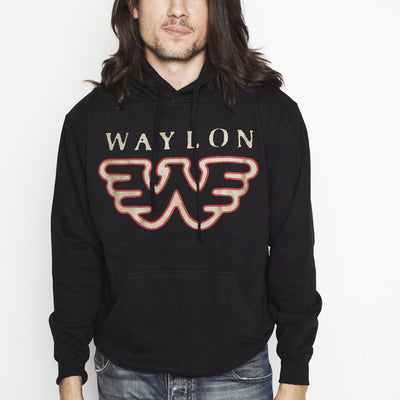 Flying W Waylon Jennings Mens Pullover Hoodie - Men's Tee Shirt - Waylon Jennings Merch Co.