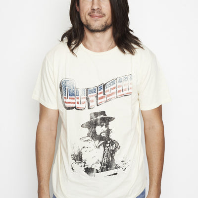 Outlaw Picture of Waylon Jennings with Telecaster Men's Tee Shirt - Men's Tee Shirt - Waylon Jennings Merch Co.