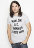 Waylon G.D. Jennings Heather Grey Mens Tee Shirt