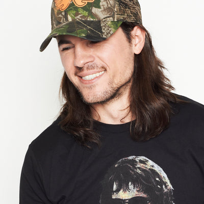 Waylon Jennings Symbol Flying W Trucker Hat - Oak Camo - Accessories - Waylon Jennings Merch Co.