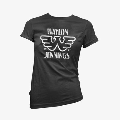 Waylon Jennings Est. 1937 Flying W Symbol Womens Tee Shirt - Women's Tee Shirt - Waylon Jennings Merch Co.