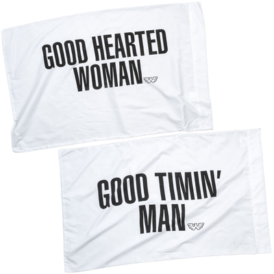 Waylon Jennings Man and Woman Pillow Case Set -  - Waylon Jennings Merch Co.