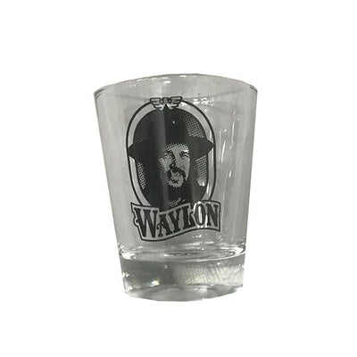 Waylon Jennings Portrait Shot Glass