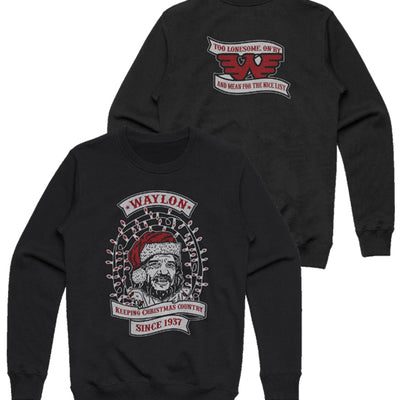 Waylon Jennings Keeping Christmas Country 2019 Holiday Sweatshirt - Men's Tee Shirt - Waylon Jennings Merch Co.