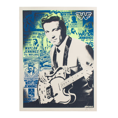 Waylon Jennings Telecaster Silkscreened Poster - Poster - Waylon Jennings Merch Co.
