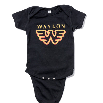 Waylon Jennings Flying W Symbol Baby Onesie - Kid's Tee Shirt - Waylon Jennings Merch Co.