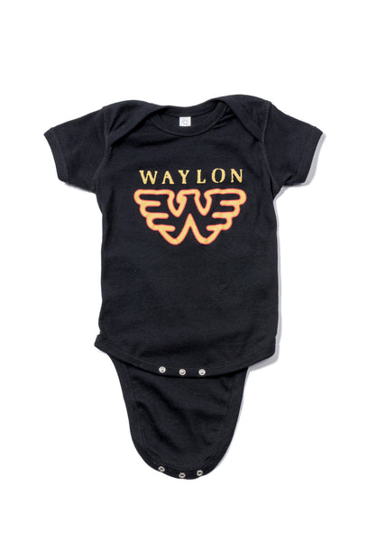 Waylon Jennings Flying W Baby Onesie