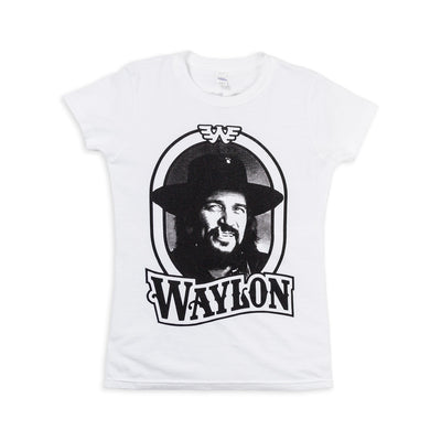 Waylon Jennings Tour '79 Women's Shirt (White) - Women's Tee Shirt - Waylon Jennings Merch Co.