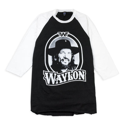 Waylon Jennings Tour '79 3/4 Sleeve Raglan - Men's Tee Shirt - Waylon Jennings Merch Co.