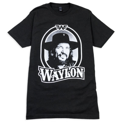 Waylon Jennings Tour '79 Men's Crewneck Tee Shirt (Black) - Men's Tee Shirt - Waylon Jennings Merch Co.