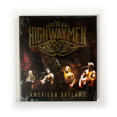 The Highwaymen (Waylon Jennings, Johnny Cash, Willie Nelson, Kris Kristofferson) - American Outlaws: Live CD - Music - Waylon Jennings Merch Co.