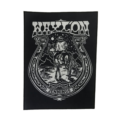 Waylon Jennings Horseshoe Back Patch - Accessories - Waylon Jennings Merch Co.