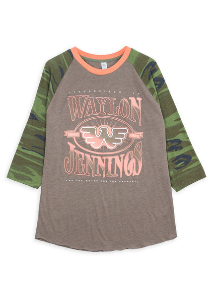 Waylon Jennings Ready for the Country Raglan