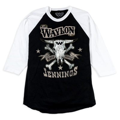 Waylon Jennings Drinkin' and Dreamin' Baseball Tee - Men's Tee Shirt - Waylon Jennings Merch Co.