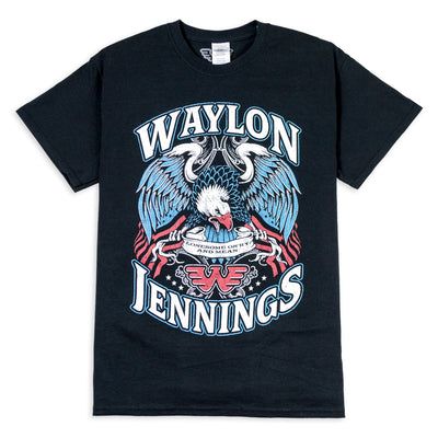 Waylon Jennings Eagle Men's Crewneck Tee Shirt - Men's Tee Shirt - Waylon Jennings Merch Co.