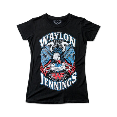 Waylon Jennings Lonesome, On'ry, and Mean Eagle Women's Tee Shirt - Women's Tee Shirt - Waylon Jennings Merch Co.